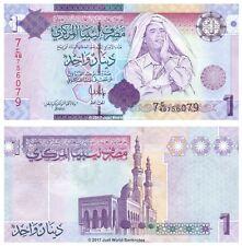 Libya 1 Dinar 2009 7th Series P-71 Gaddafi Banknotes UNC