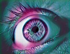 "Funky Eye 3"" Sticker Trippy Art Psychedelic Illuminati Colorful Purple Galaxy"