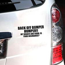 BACK OFF BUMPER HUMPER Tailgate Funny Car Truck Window Decal Vinyl Sticker