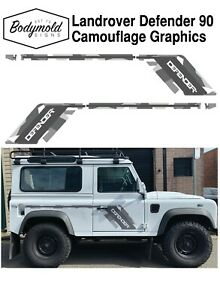 Landrover Defender 90 series camouflage graphics