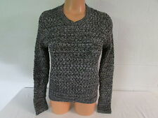 Victoria's Secret Popcorn Stitch Pullover Sweater Shirt Top Charcoal Gray Marl M