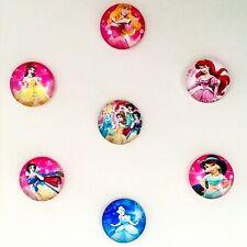 2x Disney Princess cabochons 20mm glass domed flat back craft embellishments