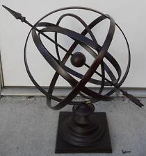 "24"" Large Iron Armillary Sphere with Arrow Garden Decor"