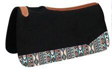 "Showman ® 31"" Wide x 32"" black felt pad with Navajo print"