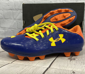 Under Armour Kid's Blur lll FG JR Soccer Cleats Size 3.5Y Dark Blue New With Box