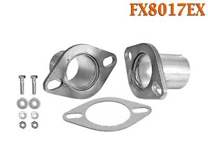 """FX8017EX 2 1/2"""" ID Universal QuickFix Exhaust Oval Flange Repair Pipe Kit Gasket"""