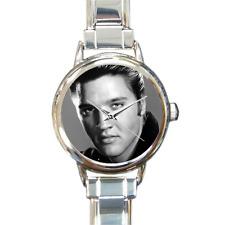 Elvis Prestley Italian Charm Watch Bracelet Rock n Roll Hound Dog Music Legend