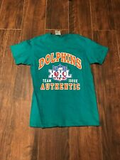 Vintage Miami Dolphins T-Shirt Graphic Tee 90s Retro NFLP BIKE Athletics Men M