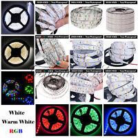 5M SMD 3528 2835 3014 5050 5630 7020 300LEDs RGB White LED Strip Light DC12V