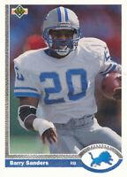Barry Sanders 1991 Upper Deck #444 Lions Football card