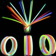 """50 x 8"""" Glow Sticks Bracelets Necklaces Party Favors Neon Color 50 Connectors"""