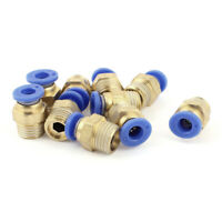 Air Line Hose 1/4BSP Male Thread 6mm Tube Quick Release Coupler Fittings 10pcs