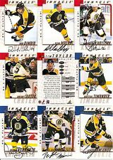 1997-98 Pinnacle BAP Be A Player Signature Boston Bruins Team Set (10)