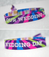 Our Wedding Day Festival Wedding Wristbands Wedding Favours