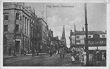 POSTCARD   DERBYSHIRE   CHESTERFIELD   High  Street   RP