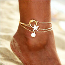 Anklet Beach Bracelet Foot Jewelry 3pcs Multilayer Anklets Women Crystal Pearl