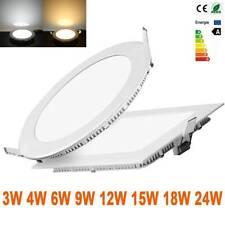 Ultra Slim Recessed LED Ceiling Down Light 3W 6W 9W 12W 15W 18W Panel Light Bulb