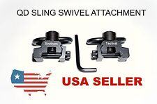 QD Quick Release Sling Swivel Push Button Attachment Mount for Picatinny Rail