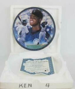 Ken Griffey Jr 1998 Home Run Leader Bradford Exchange Collectors Plate Box COA