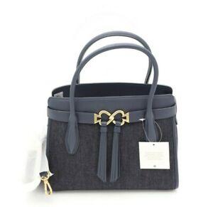 NWT Kate Spade New York Toujours Blue Denim Medium Satchel Shoulder Bag New $358