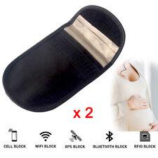 2X Phone Car Key Fob Signal Blocker Guard Protector Faraday Bag Anti Theft Pouch