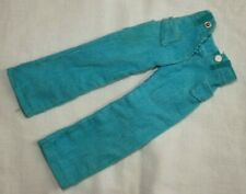 Vintage Sindy Doll Clothes Casual Cords: 1971 #12S105 Turquoise trousers VGC