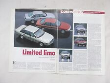 EA Ford LTD VN Holden Calais V6 V8 Road Test Article removed from a Magazine