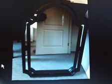 XL Dark Wood Antique Mirror,old but exc' condition. Back has been restored