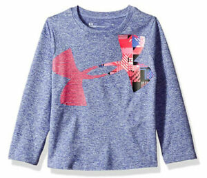 Under Armour Girls Purple With Pink Logo Top Size 5