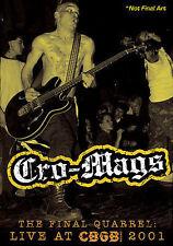 CRO-MAGS ~ The Final Quarrel - Live At CBGB/ 2001 NTSC DVD w/ Bonus Features OOP