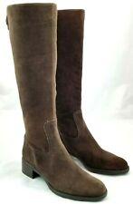 Franco Sarto Branzino Womens 8 M Dark Brown Suede Leather Riding Knee High Boot
