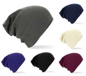 Mens Womens Slouch Beanie Hat Woolly Oversized Winter Warm Ski Skateboard Beenie