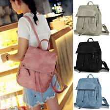 Womens Leather Backpack School Rucksack Shoulder Bag Large Capacity Travel Bags