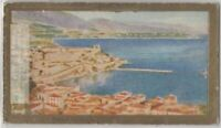 Monaco View Of Monte Carlo Riviera 90+ Y/O Ad Trade Card