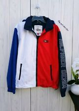 XXL MENS Tommy Hilfiger Blue red white full Zip Hooded...