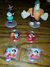 LOT Disney Infinity Figures Wreck-It Ralph Vanellope & 3 Power Disc Set