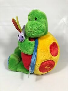 Baby Gund Tutti Frutti Turtle Tunes Stuffed Plush Musical Toy Red Green 58330