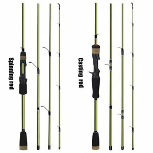 Baitcasting Rod Carbon Fibre Fishing Rod 4 Sections Spinning/Casting 1.8m-2.1m