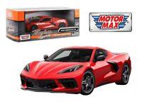 MOTORMAX 79360 2020 CHEVROLET CORVETTE C8 STINGRAY 1/24 DIECAST MODEL CAR RED