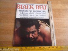 Black Belt Karate 1968 magazine Sumo Jesse Kauhaulua Hawaiian stun Japan Okinawa