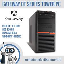 Computer PC Fisso Gateway DT Core i3 HDD 320gb Ram 4gb DDR3 Windows 10 Desktop