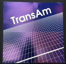 Trans Am poster for their first LP on Thrill Jockey!!!