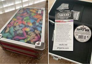 Vaultz ~Locking Supply Pencil Box ~ 3D Lenticular Butterflies~ Pink