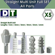 5x Dental Full Set Straight Multi Unit All Parts Regular Platform Top Quality