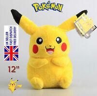 """Japanese Anime POKEMON Pikachu 12"""" 30cm Soft Plush Toy Doll Teddy Kids Gift"""