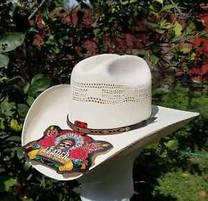 Men's White Canvas Cowboy Western Hat 50XX Texas Golden Brand Leader
