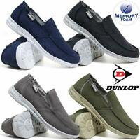 Mens Dunlop Memory Foam Casual Boat Deck Mocassin Loafers Driving Canvas Shoes
