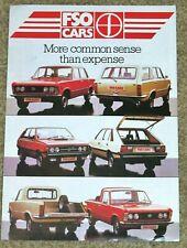 1984 FSO CARS Sales Brochure - 1300, 1500, 5SP, Estate, Polonez, Pickup