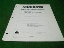 Kubota L411 L412 Cultivator Owners Manual For L Series