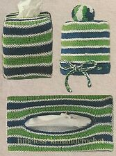 VINTAGE KNITTING PATTERN FOR TISSUE BOX COVERS & TOILET ROLL COVER - GIFT IDEA!